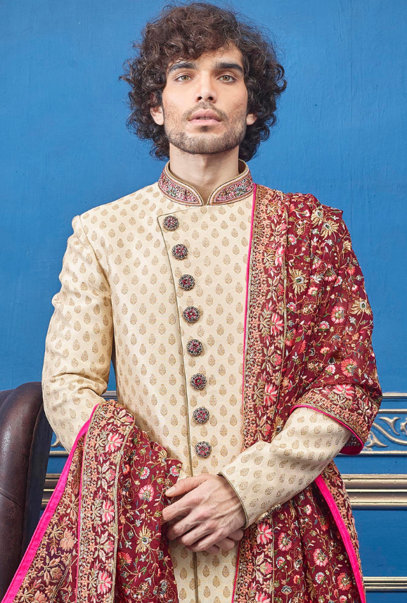 Gold Mens Sherwani