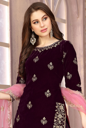Purple Patiala Suit - Desi Royale