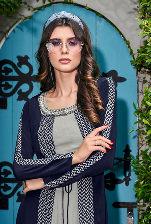 Grey Indo western suit - Desi Royale