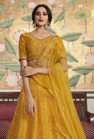 Yellow Lehenga Choli - Desi Royale