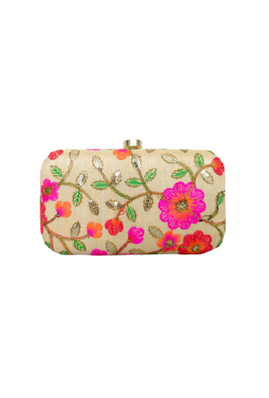 Cream Clutch bag - Desi Royale