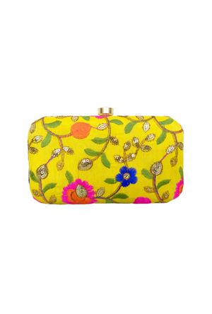 Yellow Clutch bag - Desi Royale
