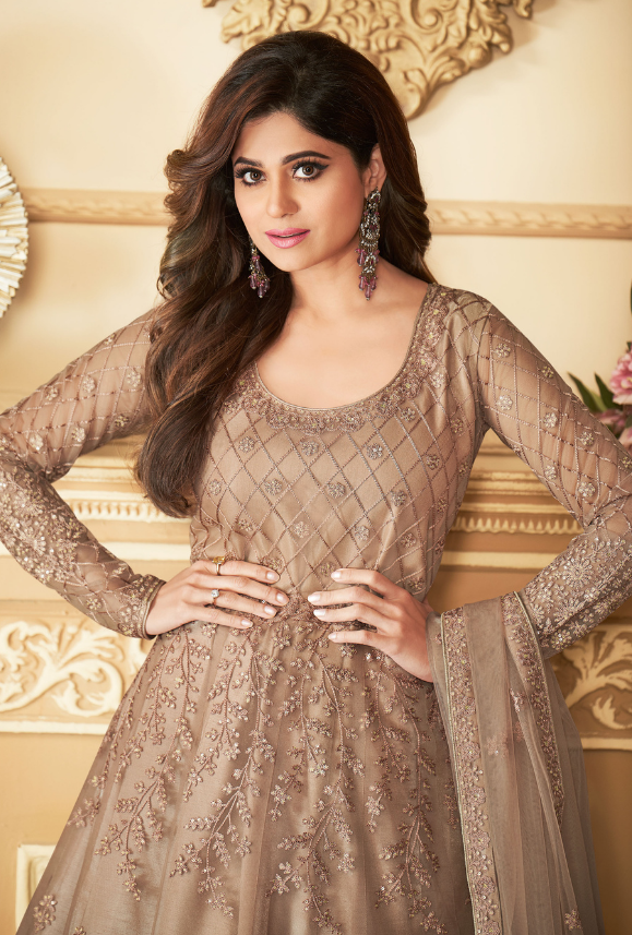 Beige Anarkali Suit