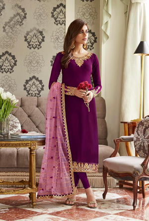 Purple Salwar Suit