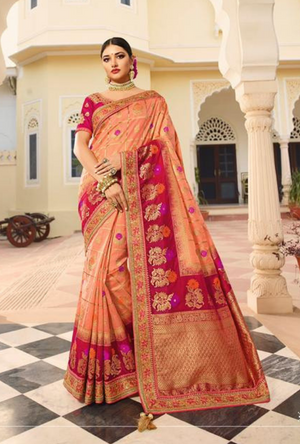 Peach Silk Saree
