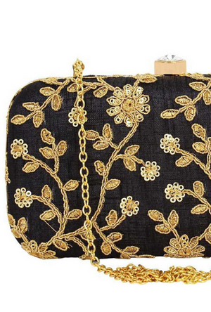 Black Clutch bag - Desi Royale