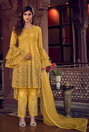 Yellow womens Suit