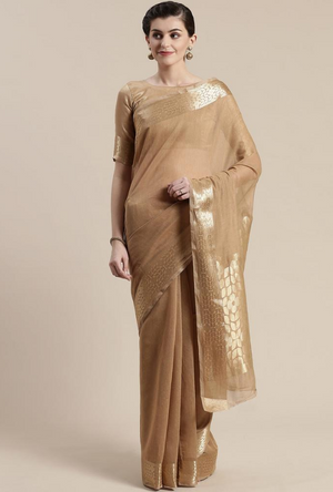 Copper Linen Saree