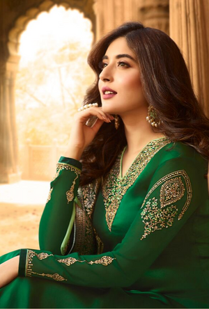 Green Salwar Suit - Desi Royale
