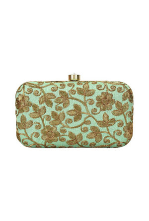 Green Clutch bag - Desi Royale