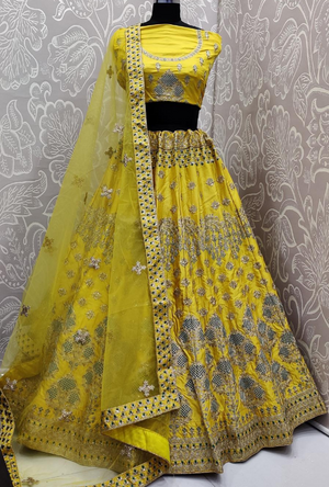 Yellow Lehenga Choli