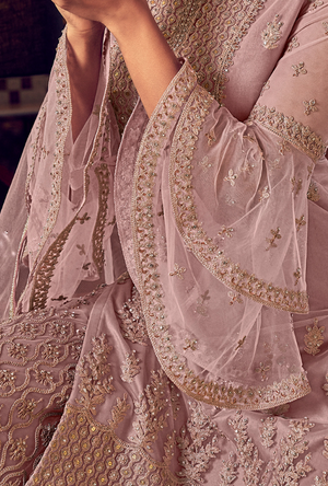 Dusty Pink Sharara Suit