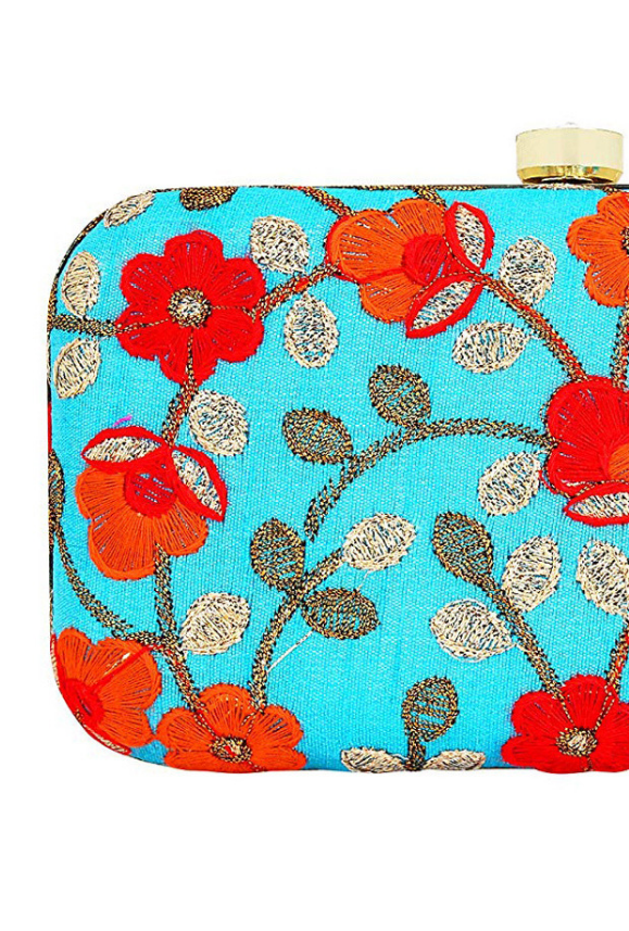 Sky Blue Clutch bag - Desi Royale