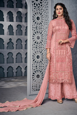 Pink Party Wear Salwar Suit - Desi Royale