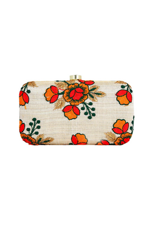 Beige Clutch bag - Desi Royale
