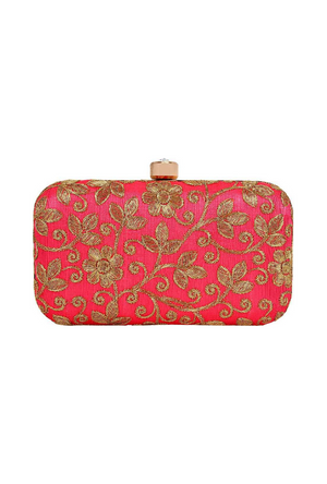 Red Clutch bag - Desi Royale