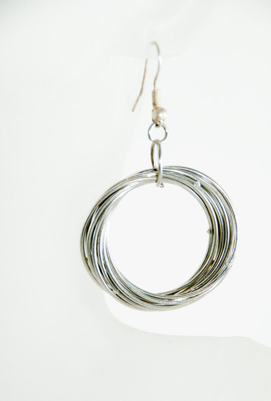 Silver swirls wire earrings - Desi Royale