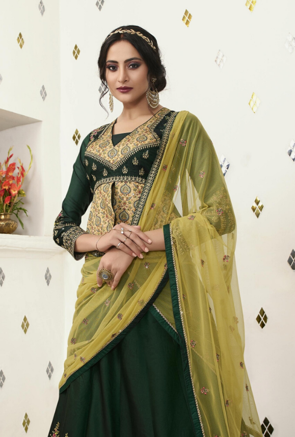 Green Lehenga Choli - Desi Royale