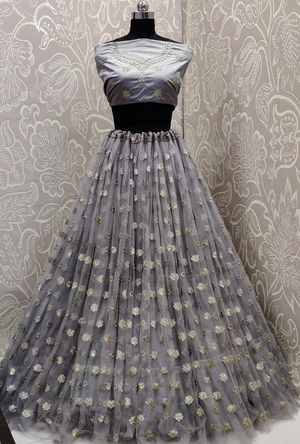 Steel Grey Lehenga Choli