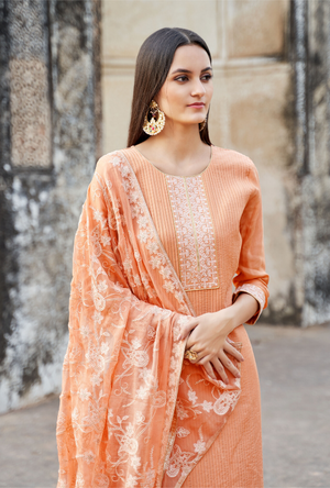 Orange Palazzo Suit - Desi Royale