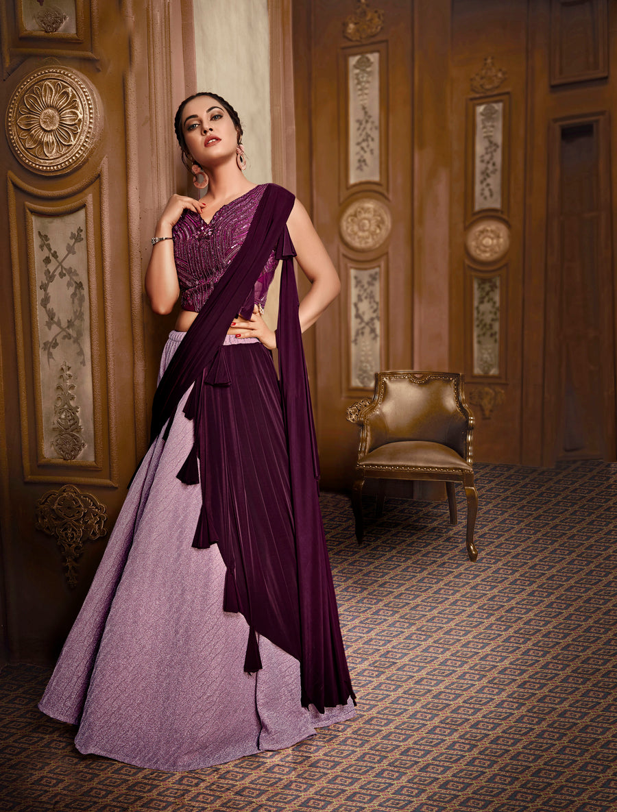 Purple Lehenga Choli - Desi Royale