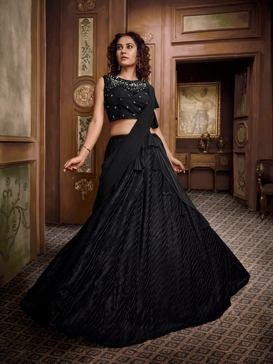 Black Lehenga Choli - Desi Royale