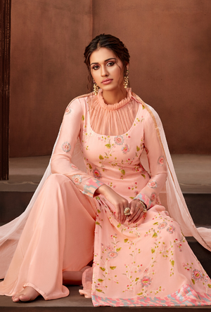 Peach Salwar Suit - Desi Royale