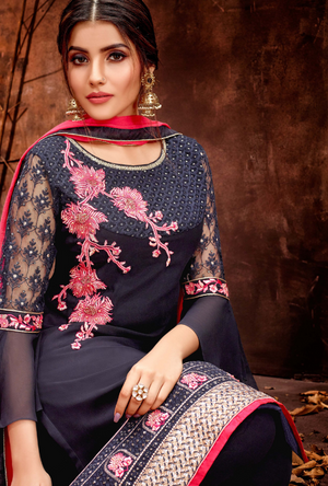 Blue Salwar Suit - Desi Royale
