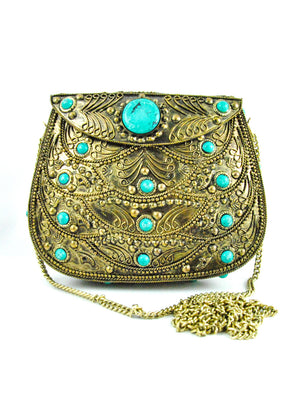 Agate Metal Clutch - Desi Royale