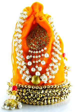 Yellow Wedding Potli bag - Desi Royale