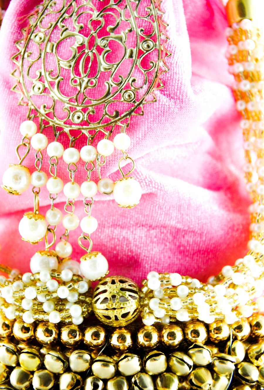 Baby Pink Wedding Potli bag - Desi Royale
