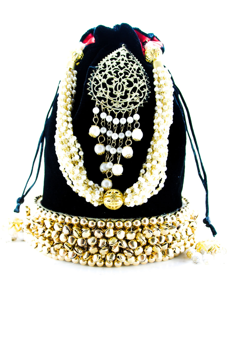 Black Wedding Potli bag - Desi Royale