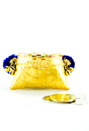 Blue Mini Coin bag - Desi Royale