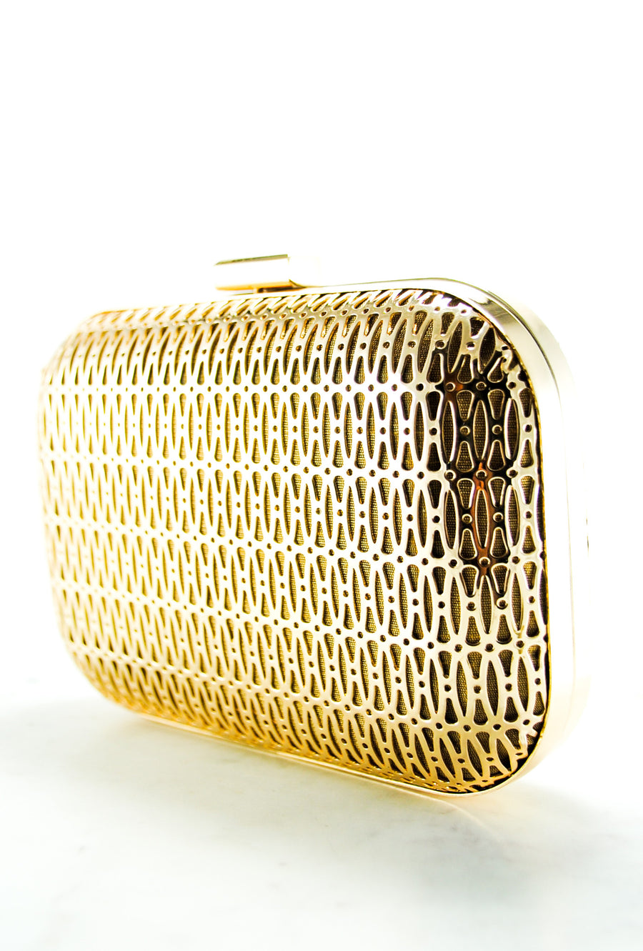 Gold metal Clutch - Desi Royale