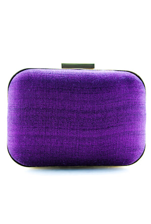 Purple Samsara Gotta Patti Clutch - Desi Royale