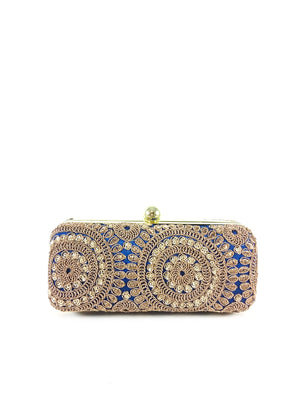 Blue Mandala Clutch - Desi Royale
