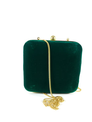 Green Zardozi Clutch - Desi Royale