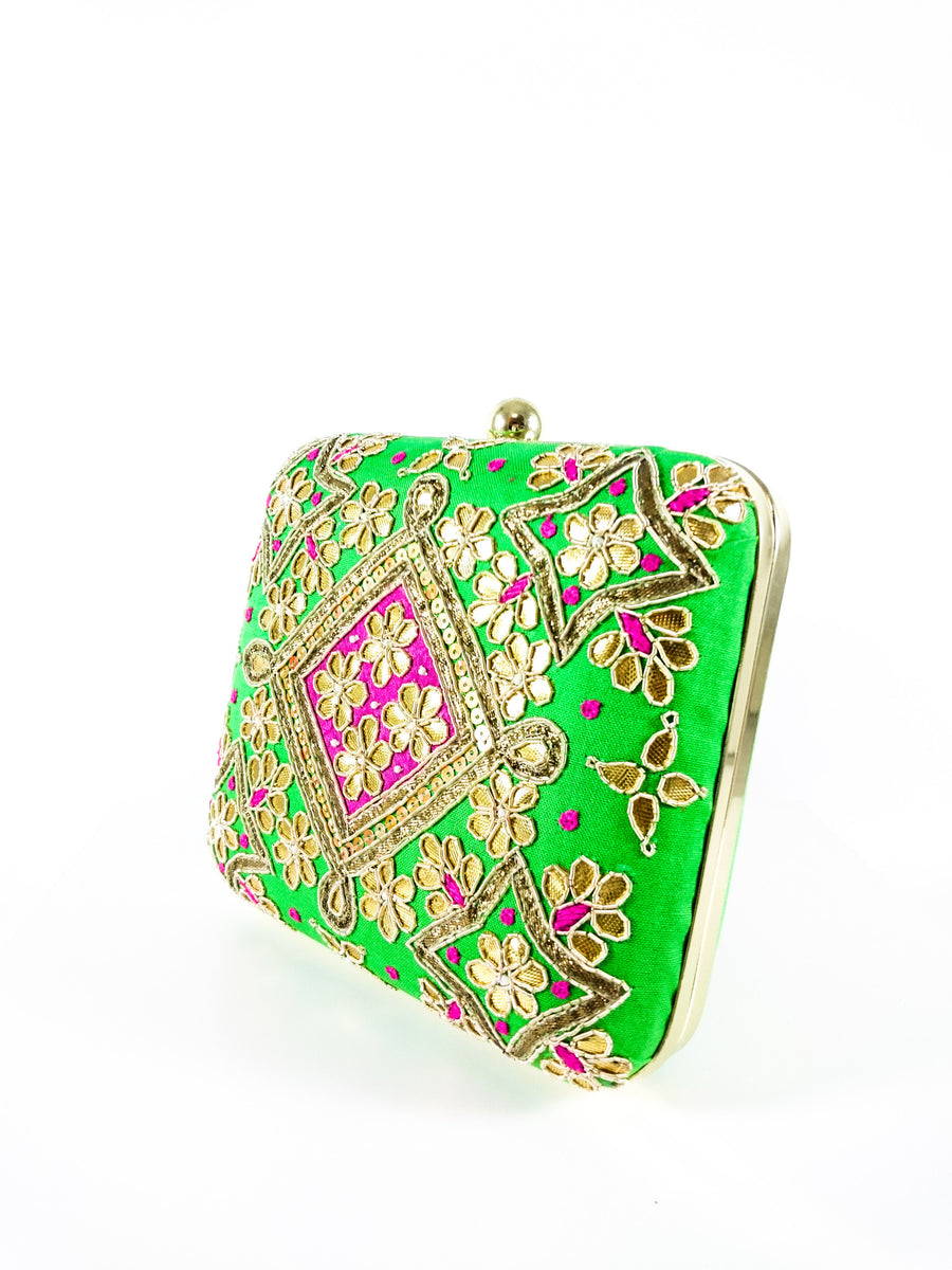 Green Samsara Clutch - Desi Royale