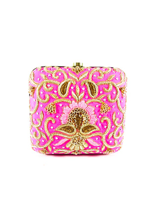 Pink Bridal Clutch - Desi Royale