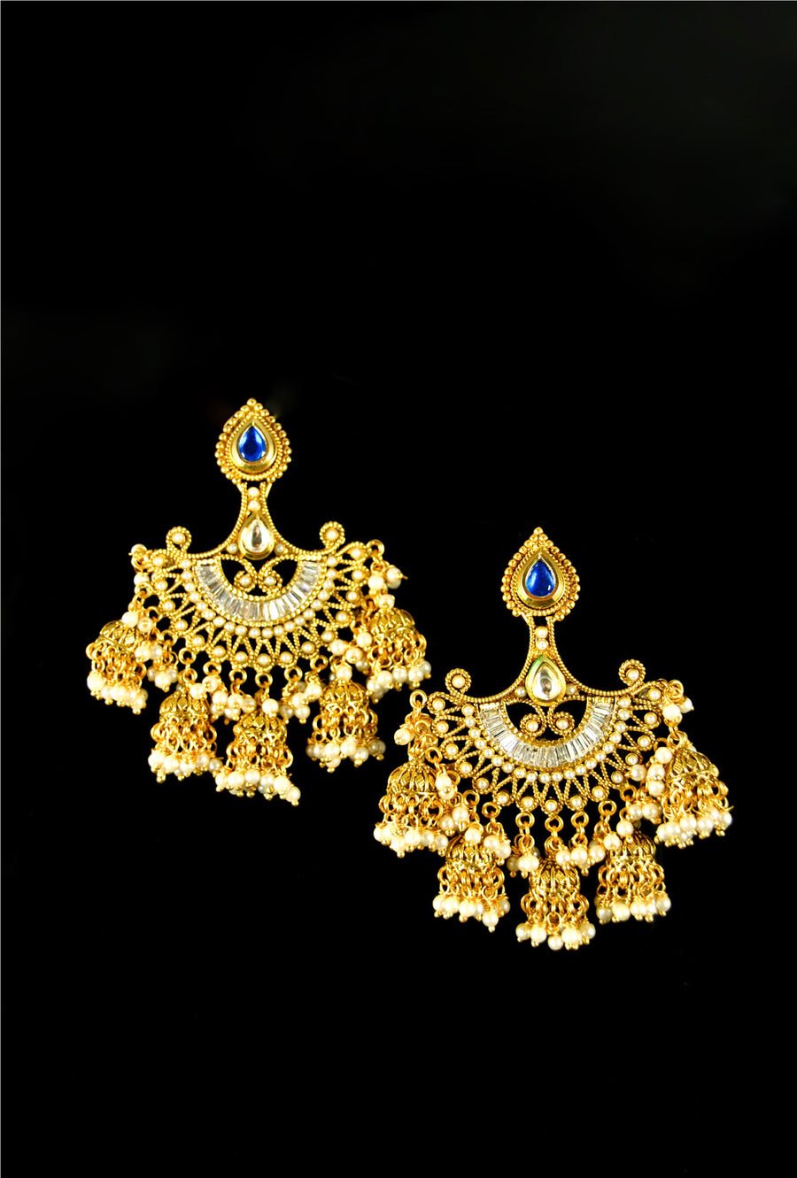 Traditional rajwadi style earrings - Desi Royale