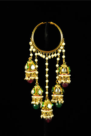 Beautiful jhumki kundan earrings - Desi Royale