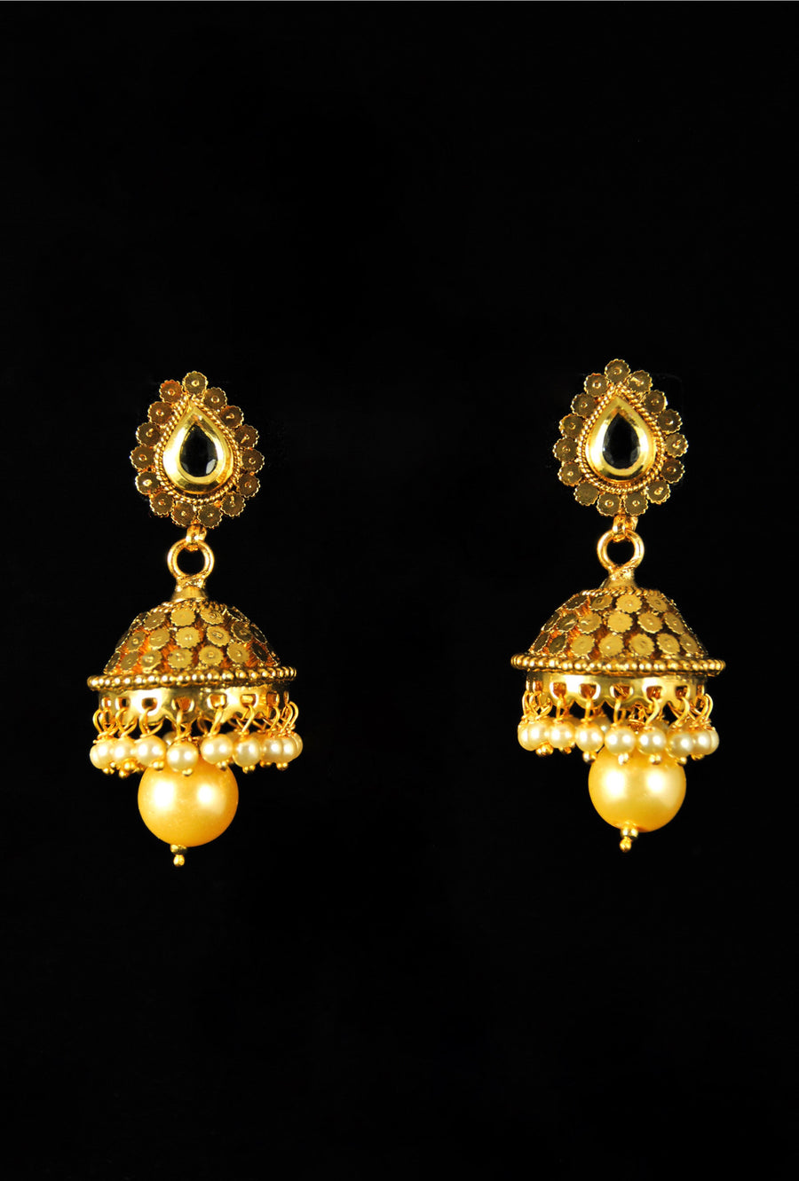 Elegant bell drop earrings - Desi Royale