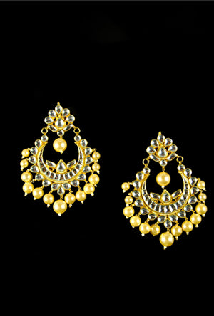 Ethnic kundan earrings - Desi Royale