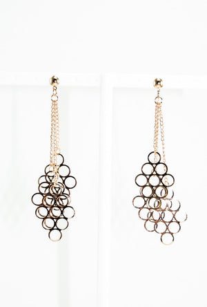 Gold chandelier earrings - Desi Royale
