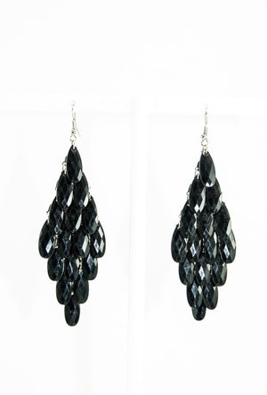 Black Chandelier earrings - Desi Royale