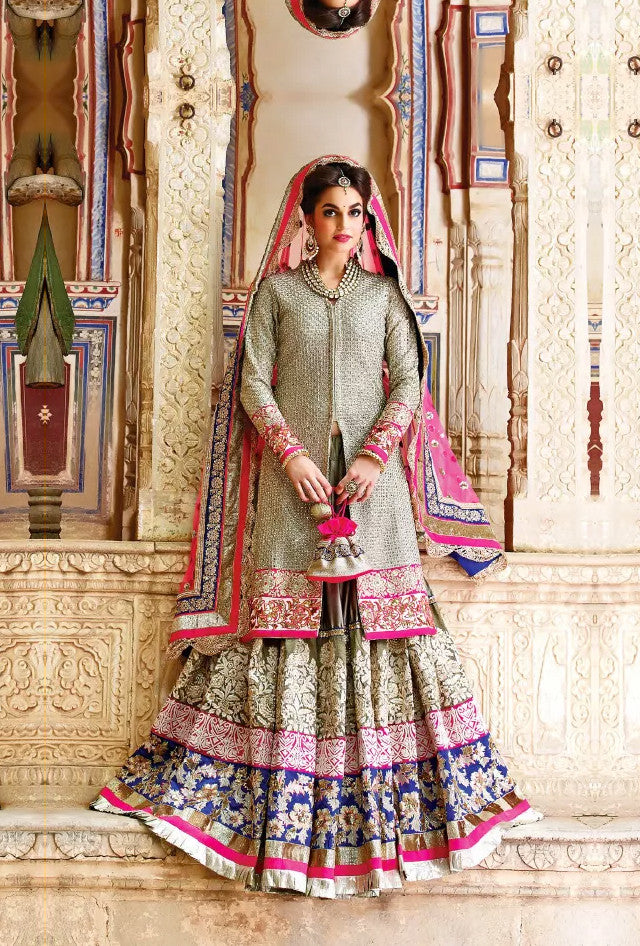 Pink designer party wear lehengha - Desi Royale
