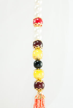 Keya Necklace With Colorful Beads - Desi Royale