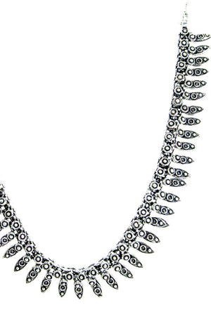 Sterling Silver Spatulate Necklace - Desi Royale