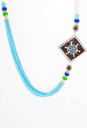 Abja Brooch Necklace - Desi Royale