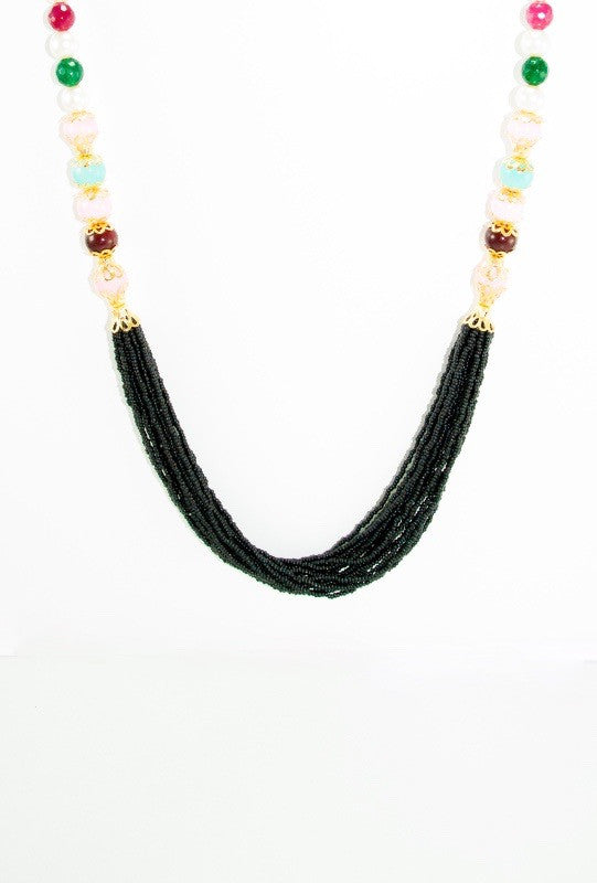 Omana Necklace With Colorful Beads - Desi Royale